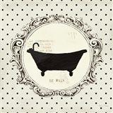 Cartouche Bath Art Print