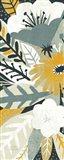 Vintage Bouquet Yellow Panel I Art Print