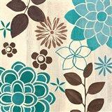 Abstract Garden Blue II Art Print