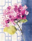 Antique Floral on White I Art Print