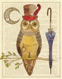 Steampunk Owl I Art Print