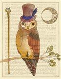 Steampunk Owl II Art Print