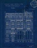 Quai Henri Blueprint I Art Print