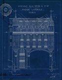 Quai Henri Blueprint II Art Print