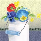 Blue Pansy III no Border Art Print