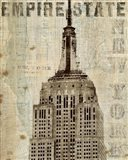 Vintage NY Empire State Building Art Print