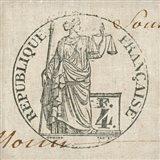 Letter Crest V Art Print