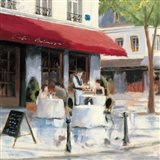 Relaxing at the Cafe I Art Print