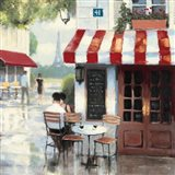 Relaxing at the Cafe II Art Print