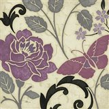 Perfect Petals I Lavender Art Print