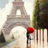 Paris Romance II Art Print