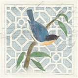 Monument Etching Tile I Blue Bird Art Print