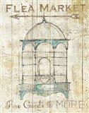 Flea Market Bird Cage II Art Print