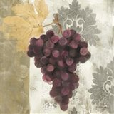 Acanthus and Paisley With Grapes  I Art Print