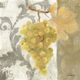 Acanthus and Paisley With Grapes II Art Print