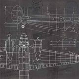 Plane Blueprint II Art Print