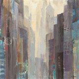 City at Dawn Art Print