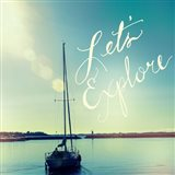 Coastline Sailboat Explore v.2 Art Print