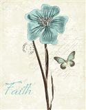 Slated Blue III Faith Art Print