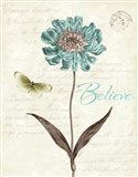 Slated Blue IV Believe Art Print