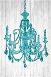 Luxurious Lights III Turquoise Art Print