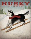 Husky Ski Co Art Print