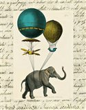 Elephant Ride I Art Print