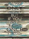 Blue Zephyr Quote I v2 Art Print