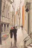 Village Promenade Neutral Art Print