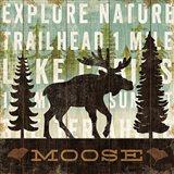 Simple Living Moose Art Print