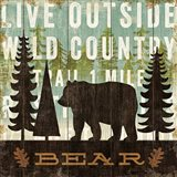 Simple Living Bear Art Print