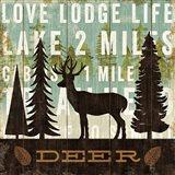 Simple Living Deer Art Print