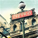 Paris Metro Letter Art Print