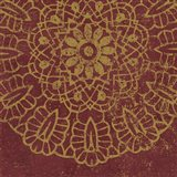 Contemporary Lace III Spice Art Print