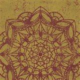Contemporary Lace IV Spice Art Print