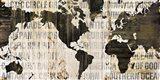 Crate World Map Neutral Art Print