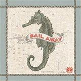 Drift Away Seahorse Art Print