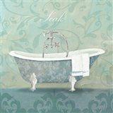 Damask Bath Tub Art Print