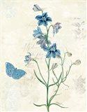 Booked Blue II Art Print