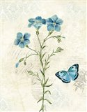 Booked Blue III Art Print