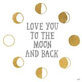 To the Moon Art Print
