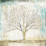 Solitary Tree Collage Art Print