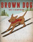 Brown Dog Ski Co Art Print