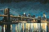Bright City Lights Blue I Art Print