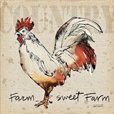 Farm Life V Art Print