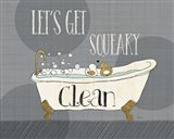 Squeaky Clean I Art Print