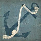 Nautical Anchor Blue Art Print
