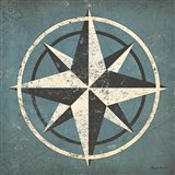 Nautical Compass Blue Art Print