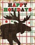 Simple Living Holiday Moose Art Print