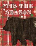 Simple Living Holiday Bear Art Print